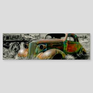 1937 Master Coupe wreck Bumper Sticker