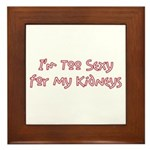 Too Funny Kidneys Framed Tile
