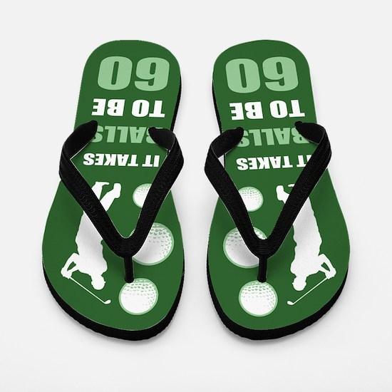 Funny Golf 60th Birthday Flip Flops