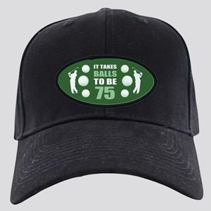 Funny Golf 75th Birthday Black Cap