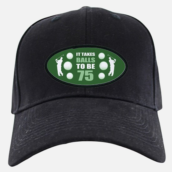 Funny Golf 75th Birthday Baseball Hat