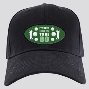 Funny Golf 80th Birthday Black Cap
