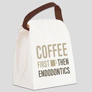 Coffee Then Endodontics Canvas Lunch Bag