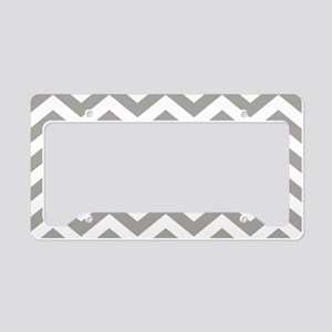 Grey, Fog: Chevron Pattern License Plate Holder
