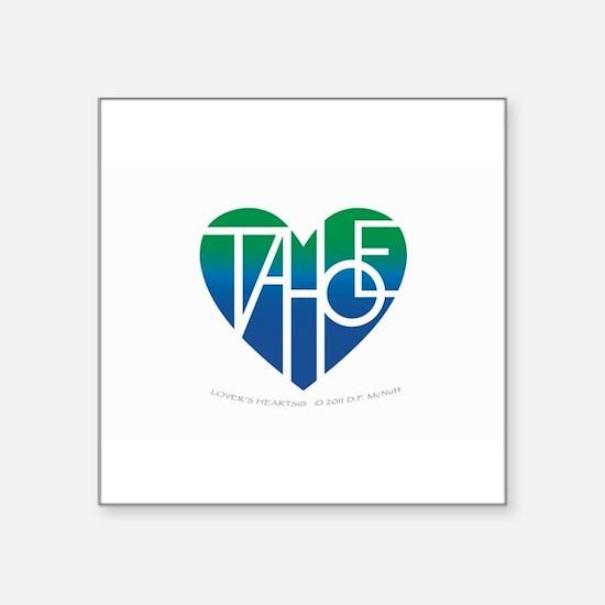 "Funny Tahoe Square Sticker 3"" x 3"""