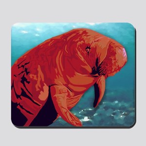 Painted Manatee Artwork Mousepad