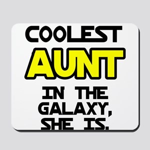 Coolest Aunt Galaxy She Is Mousepad