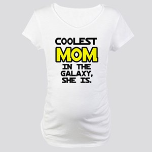 Coolest Mom Galaxy She Is Maternity T-Shirt