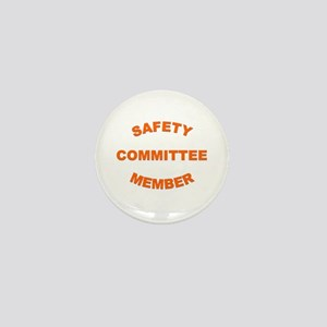 White Safety Committee Mini Button