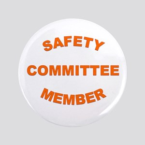 "White Safety Committee 3.5"" Button"