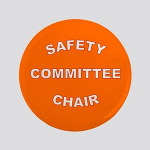 High-Visibility Orange Chairperson Button