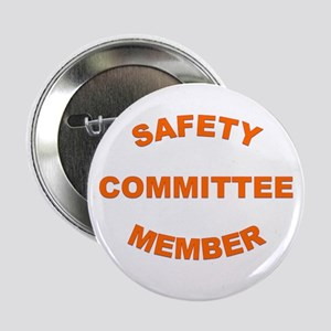 """White Safety Committee 2.25"""" Button"""