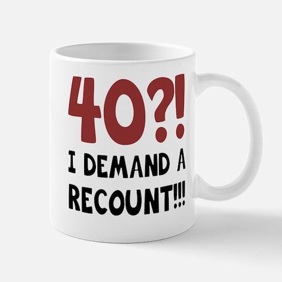 40th Birthday Gag Gift Mug