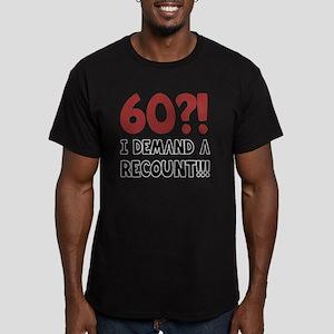60th Birthday Gag Gift Men's Fitted T-Shirt (dark)