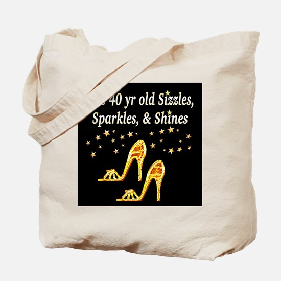 40 AND GLAMOROUS Tote Bag