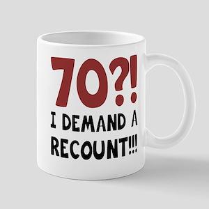 70th Birthday Gag Gift Mug