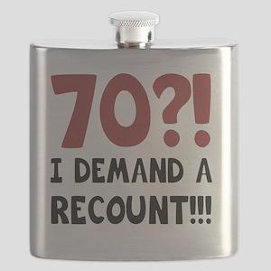 70th Birthday Gag Gift Flask