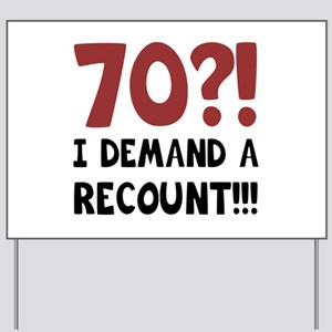 funny 70th birthday yard signs cafepress