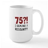 75th birthday Large Mugs (15 oz)