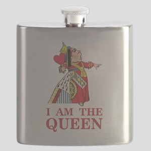 "The Queen of Hearts says, ""I am the Queen!"" Flask"