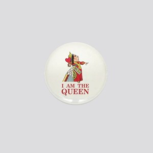 """The Queen of Hearts says, """"I am the Qu Mini Button"""