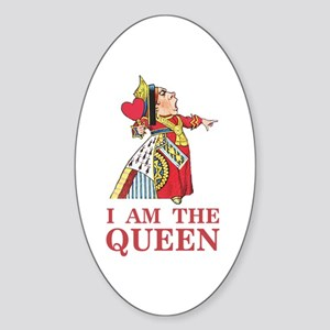 "The Queen of Hearts says, ""I am the Sticker (Oval)"