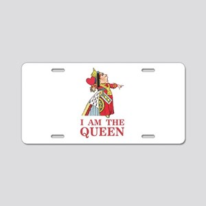 """The Queen of Hearts says, """" Aluminum License Plate"""