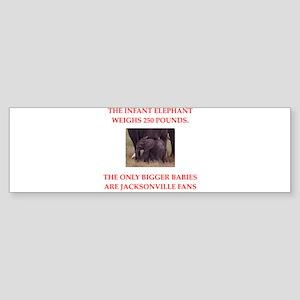 jacksonville fans Bumper Sticker