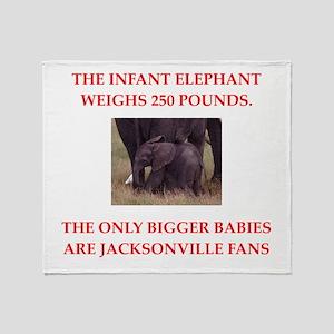 jacksonville fans Throw Blanket