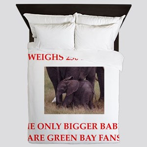 green bay fans Queen Duvet
