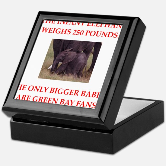 green bay fans Keepsake Box