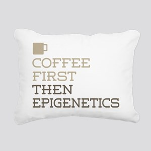 Coffee Then Epigenetics Rectangular Canvas Pillow