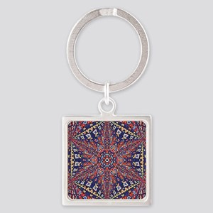 Armenian Carpet Square Keychain