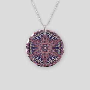 Armenian Carpet Necklace Circle Charm