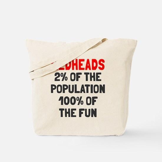 Redheads 100% Fun Tote Bag