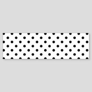 Girls just wanna have dots - white/ Bumper Sticker