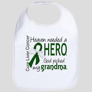 - Liver Cancer Heaven Needed Hero Grandma Baby Bib