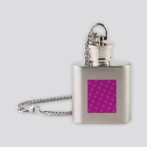 Pink Ribbon Breast Cancer Awareness Flask Necklace