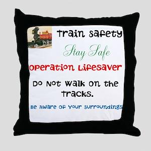 OPERATION LIFESAVER. DWOT. Throw Pillow