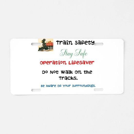 OPERATION LIFESAVER. DWOT. Aluminum License Plate
