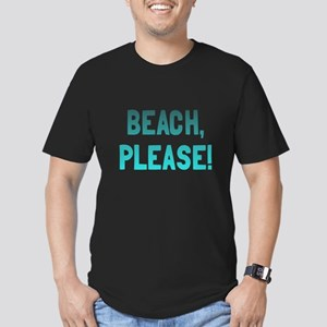 Beach, Please! Men's Fitted T-Shirt (dark)