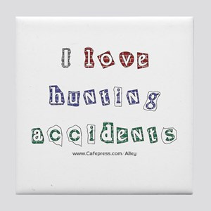 Hunting Accident Tile Coaster