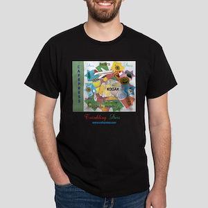 TWINKLING STARS DESIGN. TS,CP. Dark T-Shirt