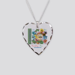 Twinkling Stars Design. Ts,cp Necklace Heart Charm