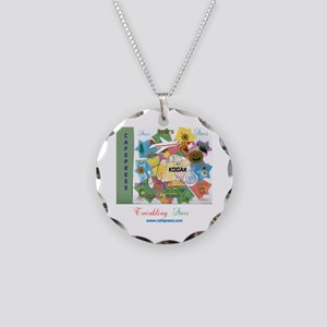 TWINKLING STARS DESIGN. TS,C Necklace Circle Charm