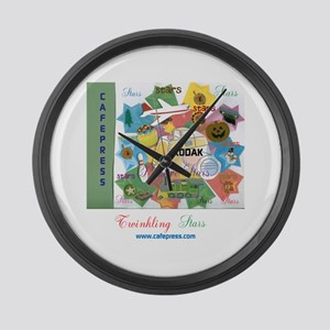 TWINKLING STARS DESIGN. TS,CP. Large Wall Clock