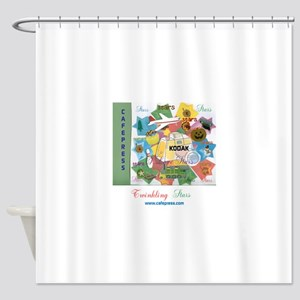 TWINKLING STARS DESIGN. TS,CP. Shower Curtain