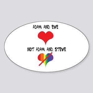 Adam and Eve not Adam and Steve. Sticker