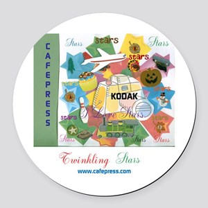 TWINKLING STARS DESIGN. TS,CP. Round Car Magnet