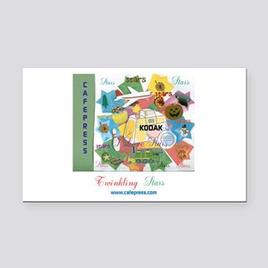 TWINKLING STARS DESIGN. TS,CP Rectangle Car Magnet